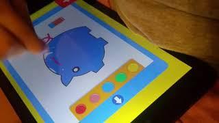 JUEGOS  DE Tablet para niños  2018Pintando con Lela en la Tableta