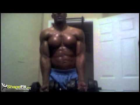 how to get big arms fast at home with dumbbells