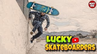Lucky Skateboarders Compilation 2019!