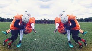 KNOCKOUT BUBBLE WRAP FOOTBALL! (OKLAHOMA DRILLS) PART 2! Video