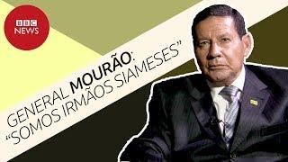 General Mourão diz ser gêmeo siamês de Bolsonaro e critica 'choro de perdedores'