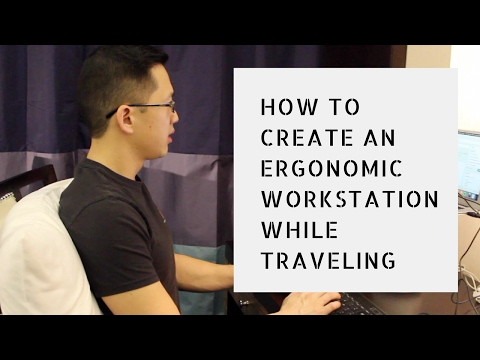 How to setup an ergonomic workstation on a laptop (travel ergonomics!)