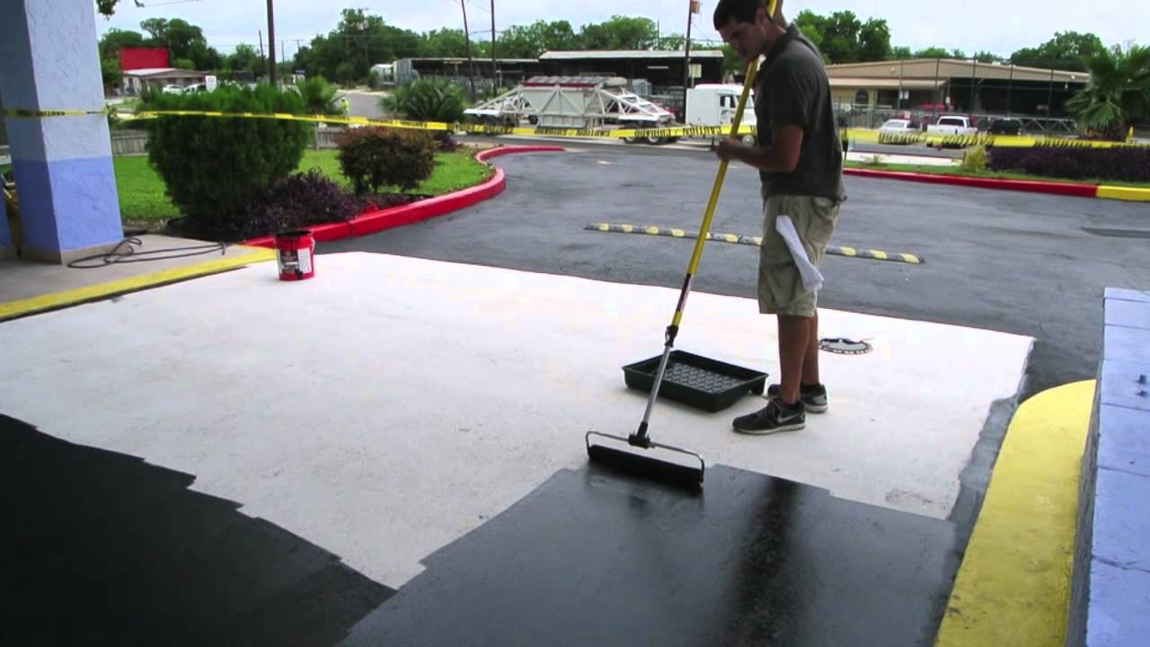 Sealing Concrete With Tinted Sealer Youtube