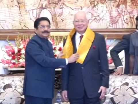 31 Mar,2017: Malaysian PM Najib Razak meets Governor of southern Indian state