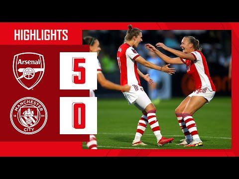 HIGHLIGHTS | Arsenal vs Manchester City (5-0) | WSL | Miedema, Little (2), McCabe, Williamson