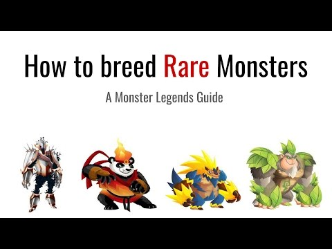 Monster Legends - How to breed Rare Monsters