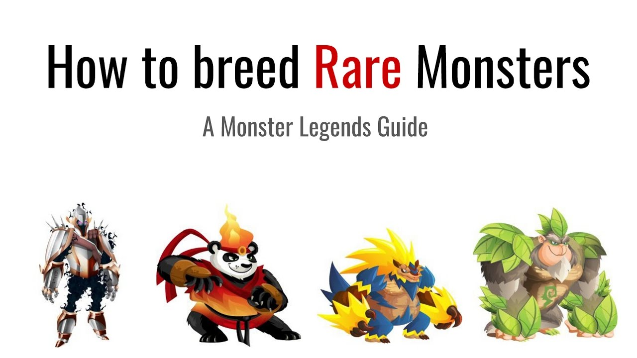 Monster Legends How To Breed Rare Monsters Youtube