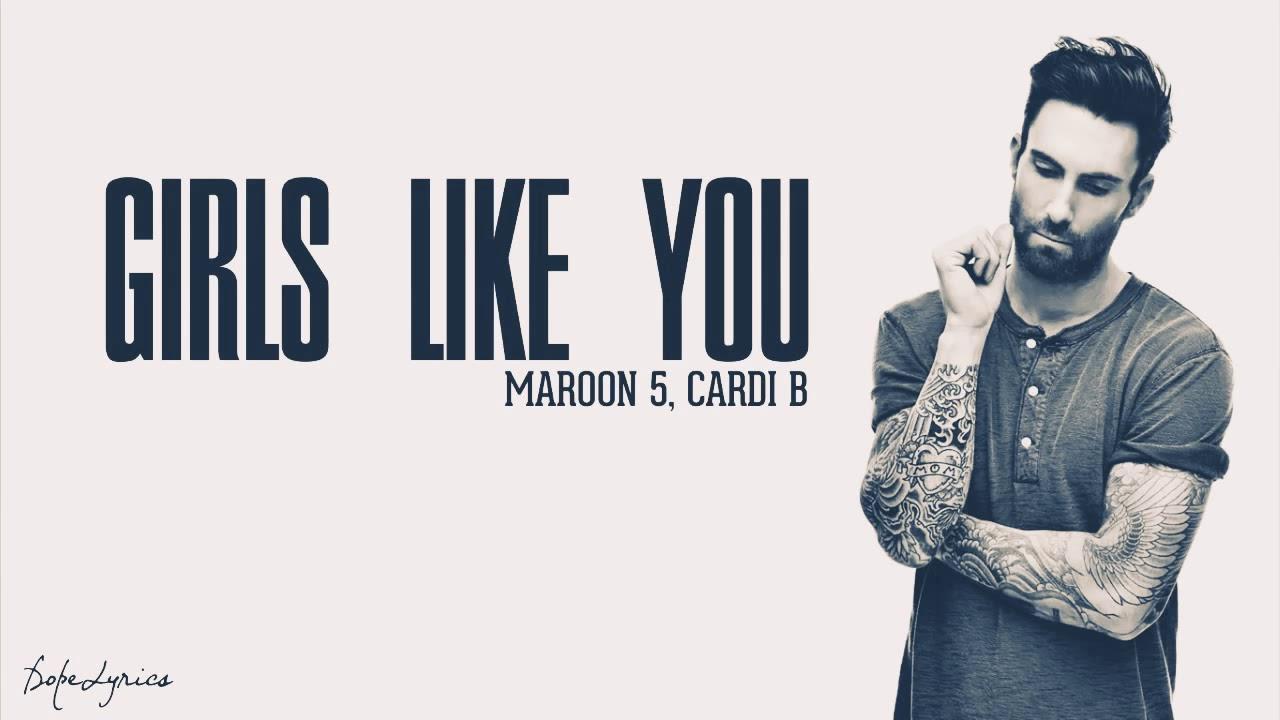 Girls like you ( lyrics) - YouTube