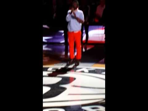 QUINTON Ellis National Anthem Brooklyn Nets Game