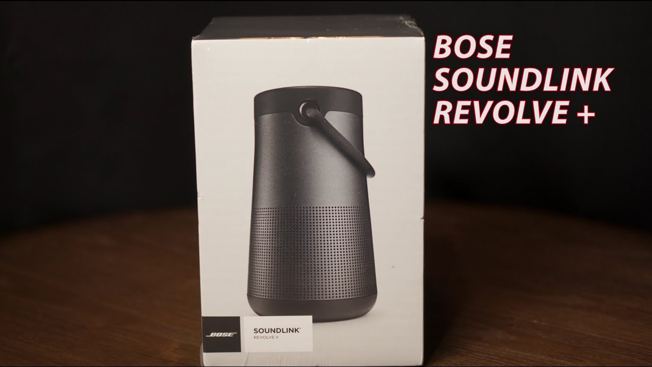 bose soundlink revolve. bose soundlink revolve plus unboxing app setup and first thoughts