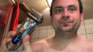 Braun Series 9 9290CC Wet & Dry El. Shaver with Clean & Charge System VS three day beard impression
