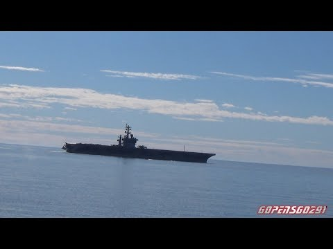 USS Dwight D. Eisenhower leaves the port of Halifax July 5th 2017