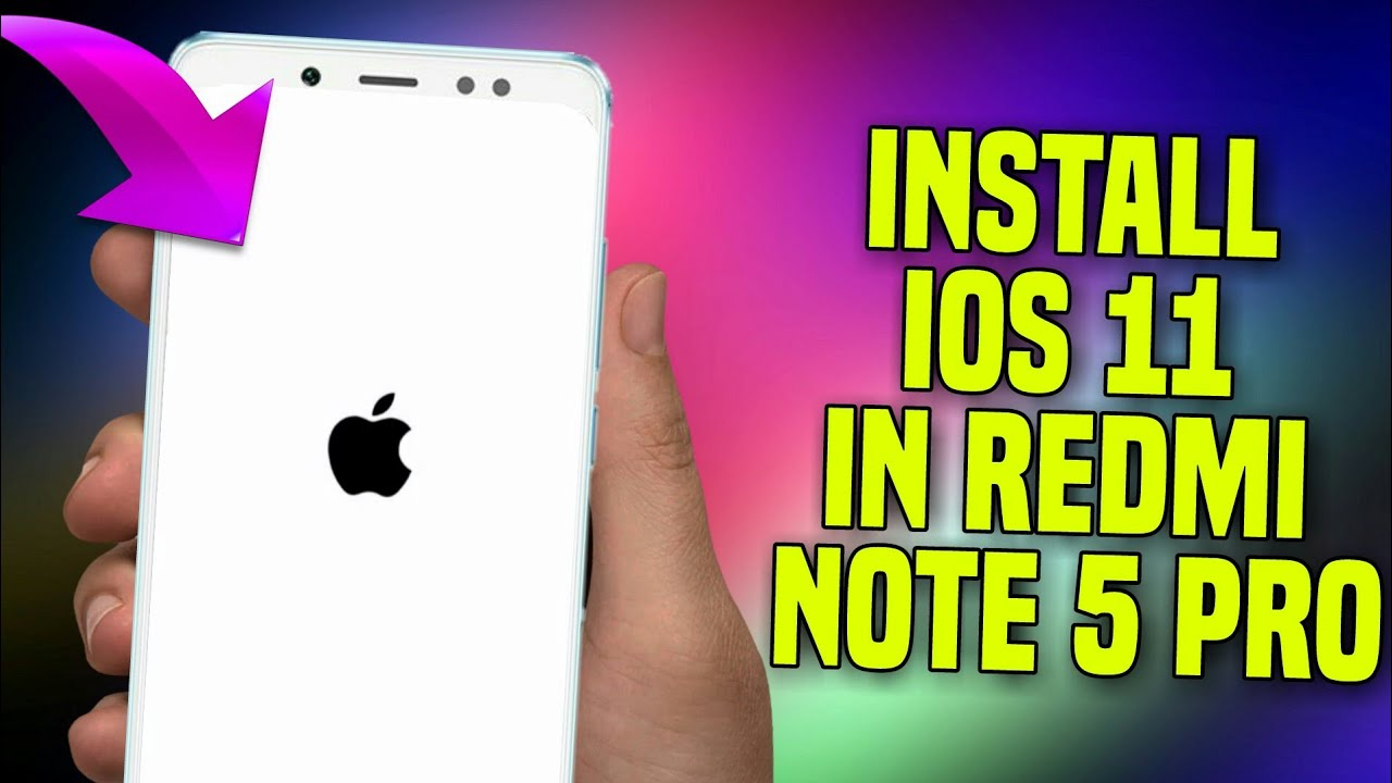install iOS 11 On Redmi Note 5 Pro || Full iPhone Features 10000%✓ Same  Look + Features