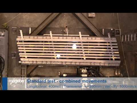 Seismic testing modular expansion joint