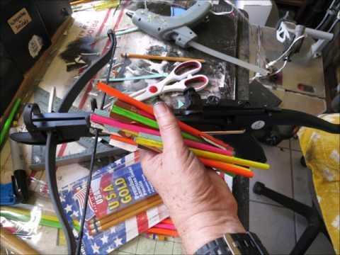 DIY make 12 cobra pistol crossbow arrows from pencils for $1