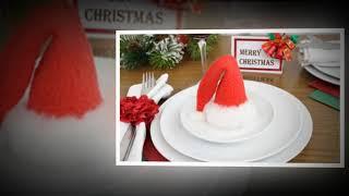 Christmas Table Decor. DIY Christmas Table Centerpieces Ideas - Beautiful Winter Decor