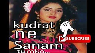 Kudrat ne Sanam tumko | Hindi song of 1990s | DIVYA BHARTI...
