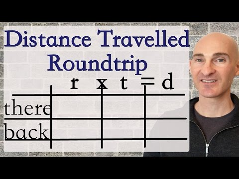 Distance Traveled - Roundtrip (System Of Equations Word Problem)