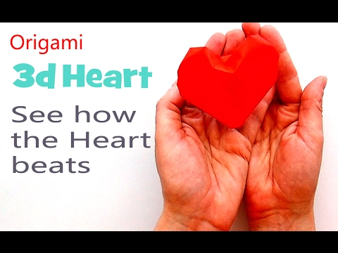 The Living Heart Of The Paper (heart Beats). Origami Focus On Valentines Day 2020