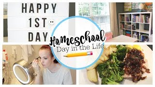 HOMESCHOOL DAY IN THE LIFE | FIRST DAY OF HOMESCHOOL 2019 & HOMESCHOOL Q & A | HOMESCHOOL MOM