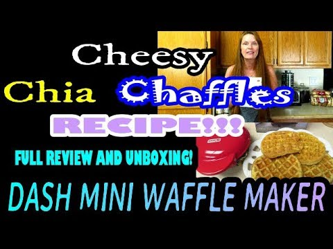 dash-mini-waffle-maker-review-&-unboxing-cheesy-chia-chaffles-wow-not-eggy!