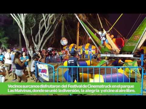 Municipalidad de Santiago de Surco: Cinema -Truck se llevó a cabo en el parque