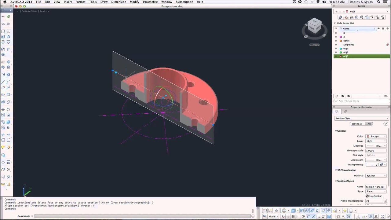 37.3a: Creating Cross Sections with SectionPlane - YouTube