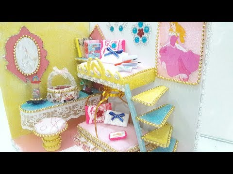 DIY Miniature Princess Dollhouse ~ Bedroom with Bunk Bed