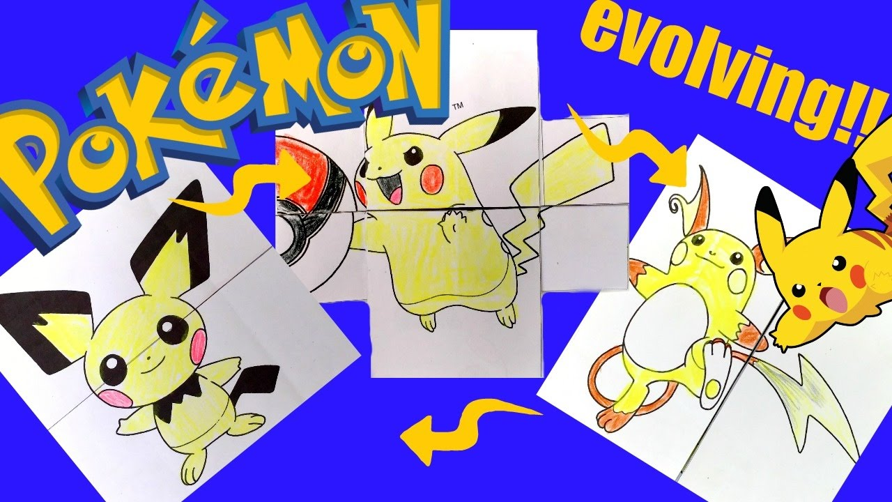 pokemon evolution card diy youtube
