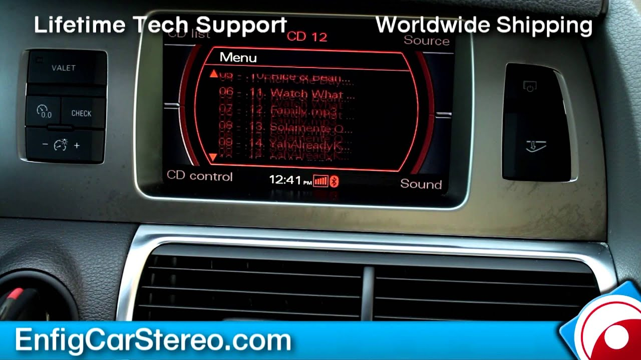 Audi Q7 iPod iPhone AUX USB HOW-TO-USE Dension GW52M01 GW53M01 - YouTube
