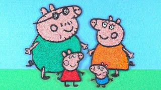Peppa Pig Family Belajar Menggambar dan Mengisi  Mewarnai untuk Anak