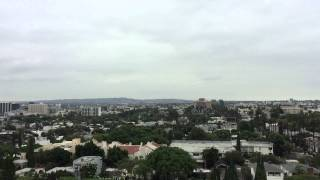 A cloudy summer morning in L.A.