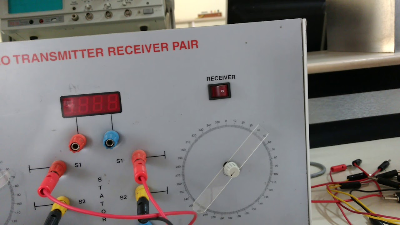 Vtu Cs Lab Synchro Transmitter And Reciever Youtube Wiring Diagram Receiver Emitter In A Plc