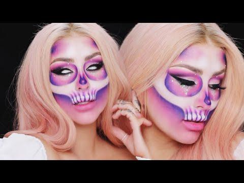 Halloween Glitter Euphoria Skull Tutorial w ALEX FACTION- CHRISSPY thumbnail