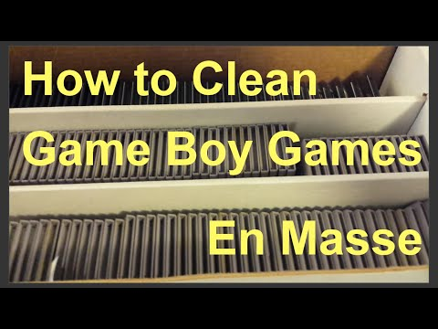 How to Clean Game Boy Games - Clean TONS of Nintendo Gameboy Cartridges QUICKLY