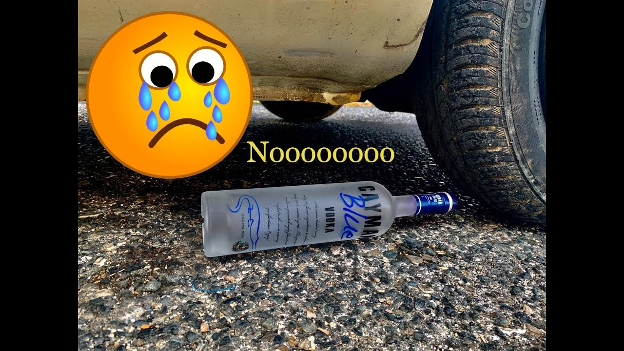 Crushing Crunchy & Soft Things by Car! EXPERIMENT: Car vs Vodka