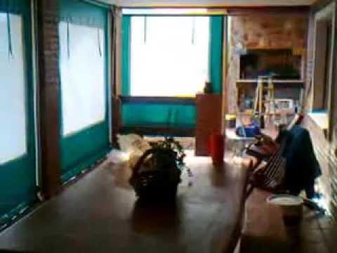 cerramiento de lona PVC  y PVC cristal  con cortina