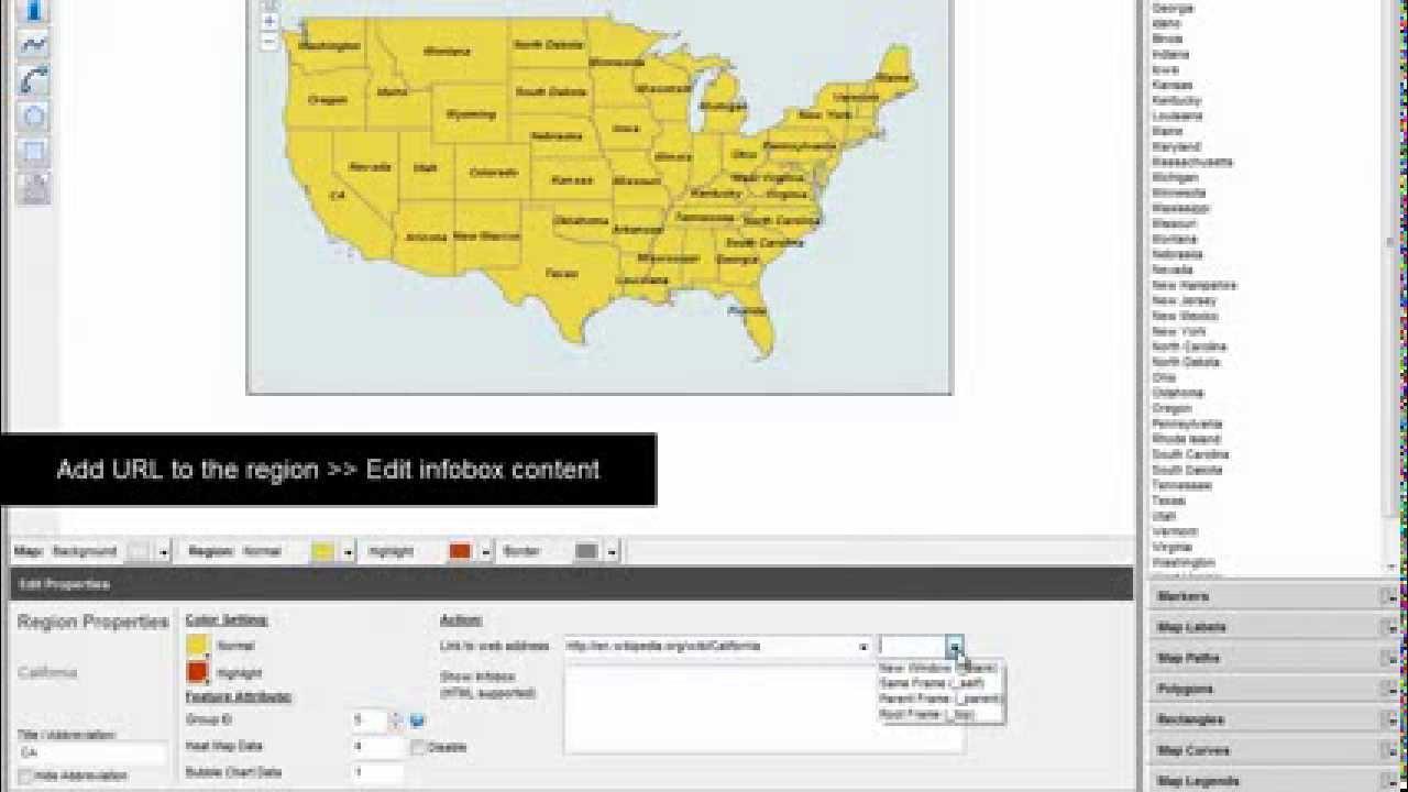 Map Region Properties  Part 1   Abbreviations    Tooltips