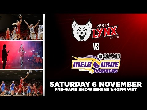 WNBL Round 5: Perth Lynx v Melbourne Boomers