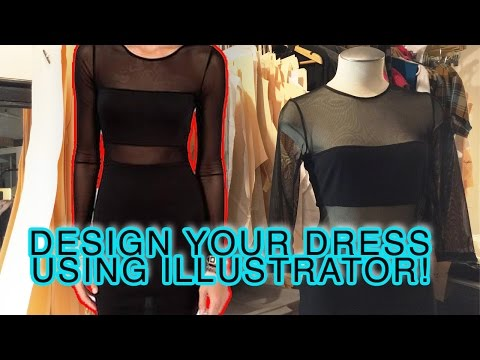 DESIGN A DRESS USING ILLUSTRATOR (AND PRINT THE PATTERN TOO!)