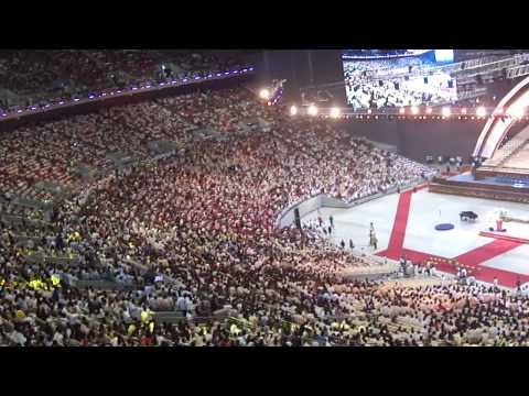 """Inauguration """"Human Wave"""" OF PHILIPPINE ARENA"""
