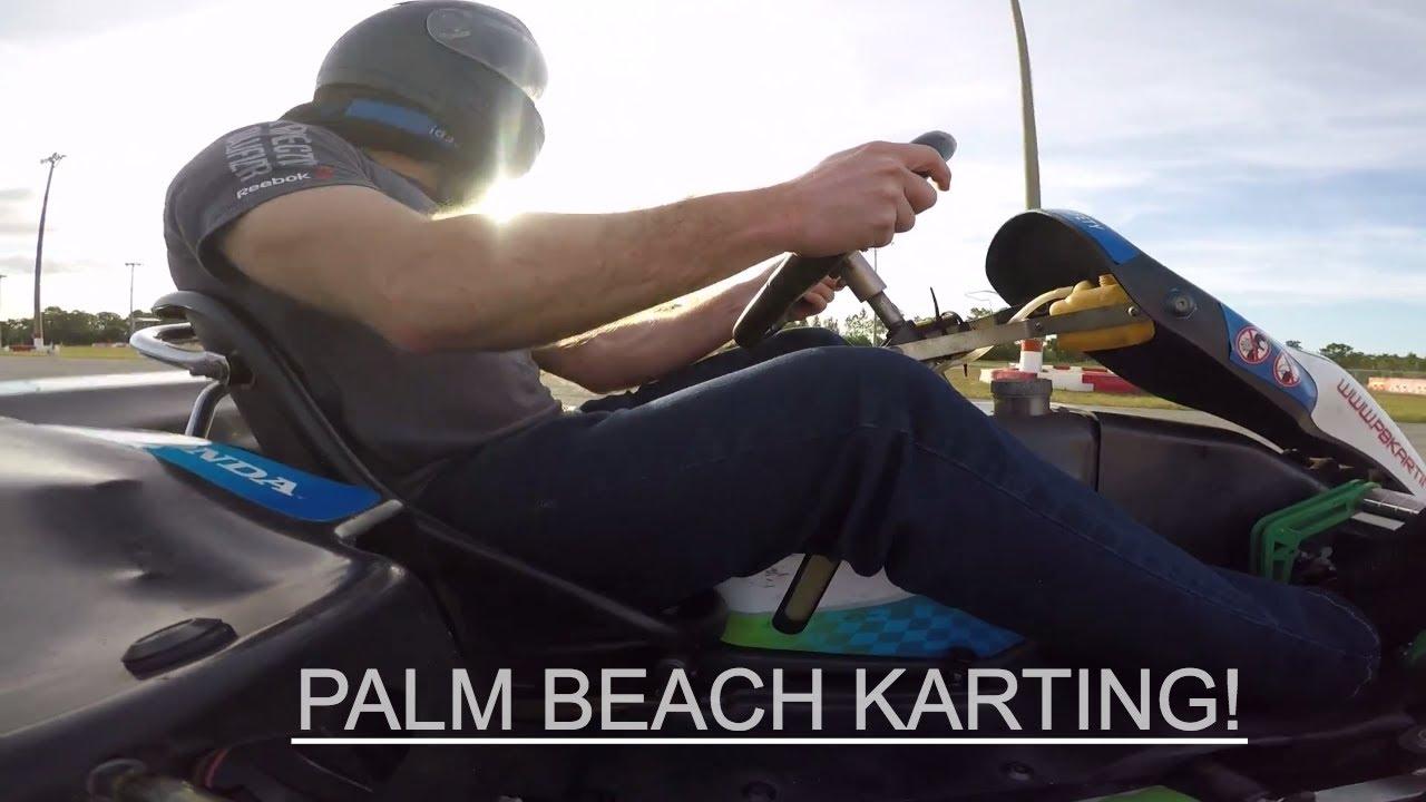 Racing Go Karts at Palm Beach Karting! I ALMOST BROKE MY GOPRO!