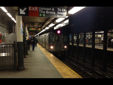 IRT Lexington Avenue Line: Brooklyn & Uptown R142 (4) (5) Trains @ Wall Street