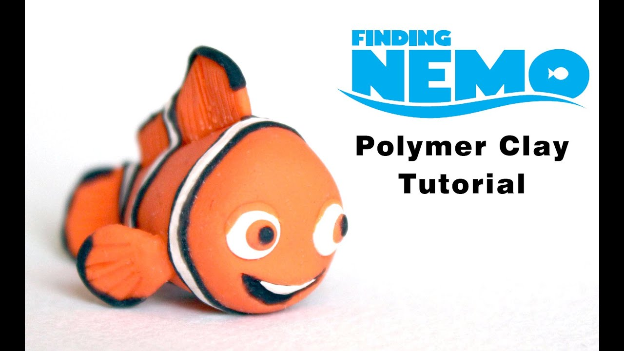 finding nemo clown fish polymer clay tutorial youtube