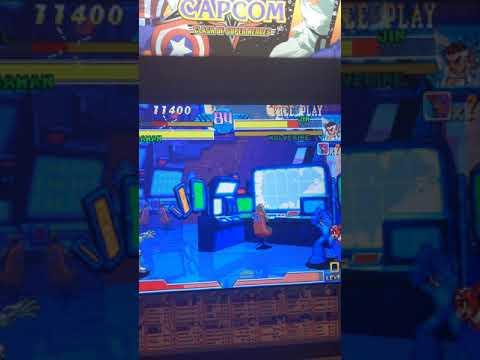 Roll unlocked in Arcade1up's Marvel vs Capcom cabinet from Malckie Rob