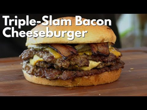 Triple-Slam Bacon Cheeseburger Recipe!   Ballistic BBQ
