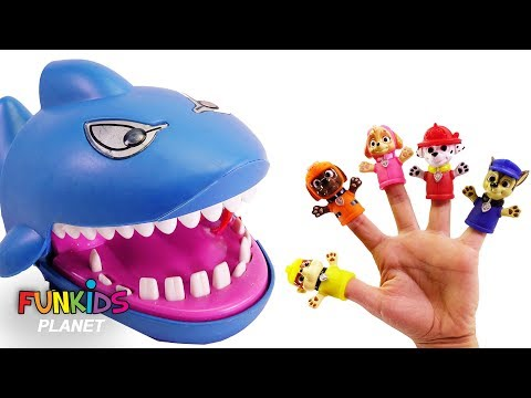 Paw Patrol Family Finger Song Crocodile and Shark Dentist Lo