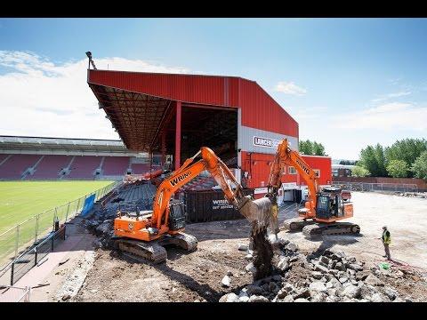 Ashton Gate Update: Williams Stand Demolition Begins