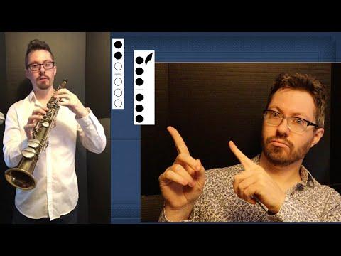 🎷 Soprano Sax Finger Chart - Bb Soprano Saxophone Fingerings for Notes