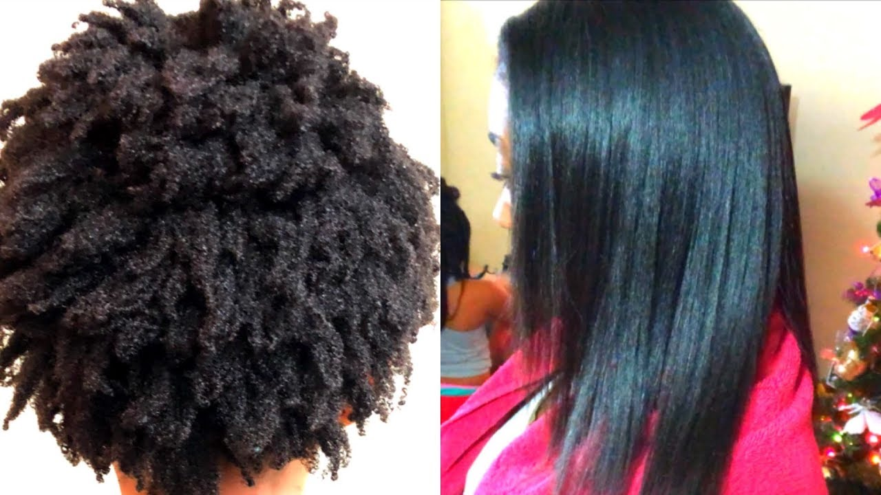 Perfect 4z Hair Silk Press The Shrinkage Is Real Youtube